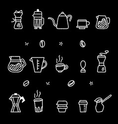 Rough outline coffee manual brewer tool graphic vector