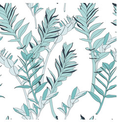 seamless tropical pattern vivid tropic foliage vector image