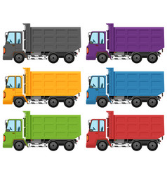 set different truck colour vector image