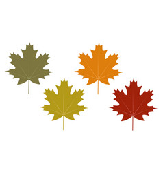 set of clip art autumn leaves vector image