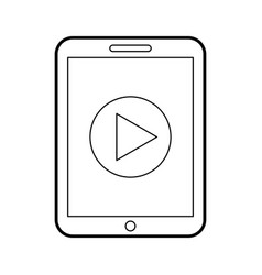 Smartphone device play button vector