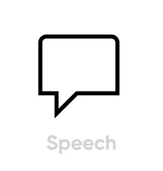speech chat message icon editable line vector image