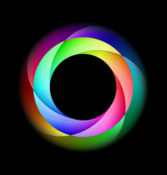 spiral ring in bright and diffused colors on vector image