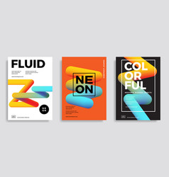 trendy design templates with 3d flow shapes vector image