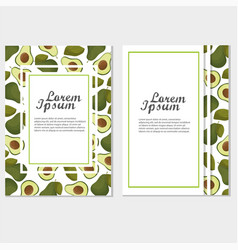 veggie lover elements template of invitation or vector image