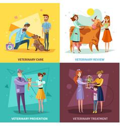 vet doctors design concept vector image
