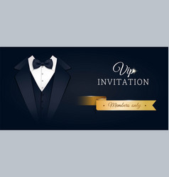 vip premium horizontal invitation card vector image