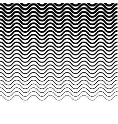 Wavy zigzag jagged lines horizontally repeatable vector
