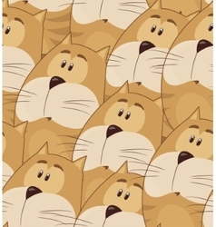 Amusing animation chubby cat Seamless pattern for vector image vector image