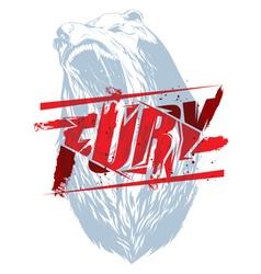 Bear fury vector