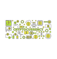 crypto currency colorful - vector image