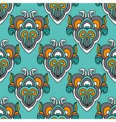 Damask abstract seamless pattern vector image