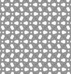 Dark gray circle interlocking ornament vector