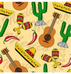 Mexican seamless background vector image