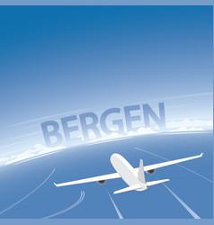 Bergen flight destination vector