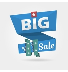 Big Sale banner realistic curved Template vector image