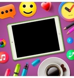 Blog concept social media vector image vector image