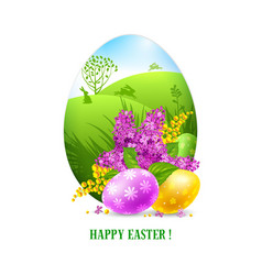 easter greeting card template vector image