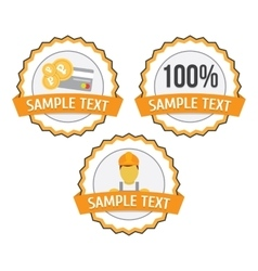 Guarantee worker shop business icon vector image