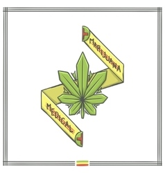 Medica Marijuana Logo One vector image vector image