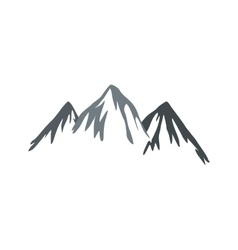 Mountain icon flat style vector image