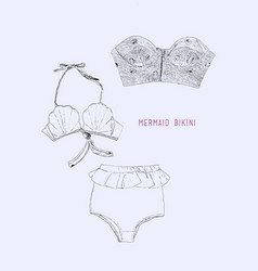 set of swimwear vector image vector image