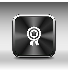 blue best of badge with ribbon icon award champion vector image vector image