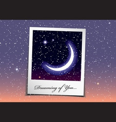 dreaming of you at night vector image