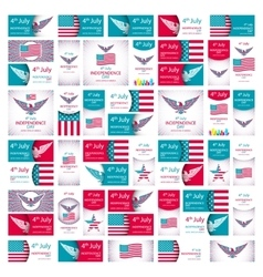Happy Independence Day - Fourth of July - July 4th vector image vector image