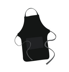 isolated black apron vector image