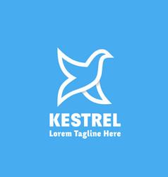 kestrel abstract sign emblem or logo vector image vector image