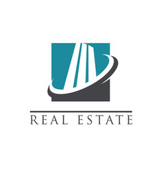 modern building logo icon vector image vector image