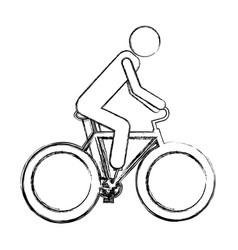 Monochrome sketch pictogram of man in sport vector