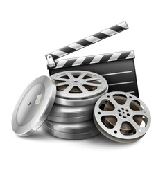 Movie film disk with tape vector image