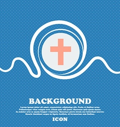 religious cross Christian icon sign Blue and white vector image