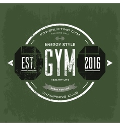 Round print for t-shirt advertising gym vector image vector image
