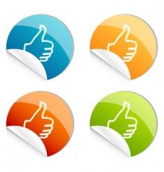 thumbs up logo vector image vector image