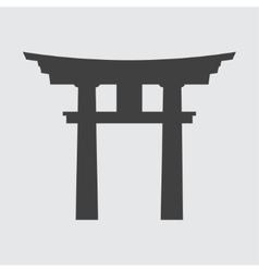 Torii gate icon vector image