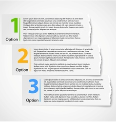 Torn paper progress option background vector image