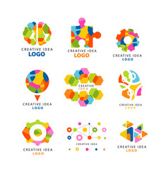 creative idea logo abstract colorful elements and vector image vector image