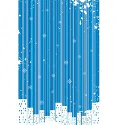 grunge retro winter background vector image vector image