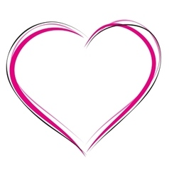 Heart symbol of love Sign of heart outline Heart vector image vector image