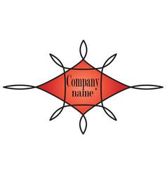 logo symbol red ornate vector image
