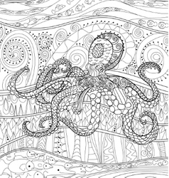 Octopus with high details vector image vector image