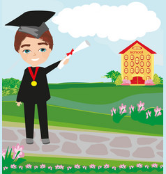 School-college graduation - boy vector