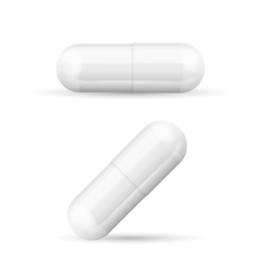 White Template Pills Capsules vector image vector image
