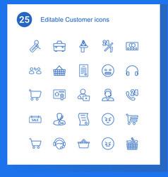 25 customer icons vector