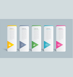 5 data infographics tab index template design vector