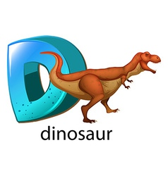 A letter D for dinosaur vector image