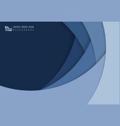 Abstract blue paper cut overlap design vector
